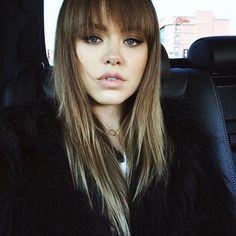 Kristina Bazan Kristina Bazan, Hair Secrets, Face Reference, Woman Face, Simply Beautiful, Bangs, Singer, Hair Styles, Makeup