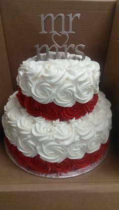 Cupcakes Decoration Anniversary Buttercream Frosting Ideas - Make-Up Cake Decorating Videos, Cake Decorating Techniques, Elegant Wedding Cakes, Wedding Cake Designs, Wedding Ideas, Wedding Cakes With Cupcakes, Cupcake Cakes, Beautiful Cakes, Amazing Cakes