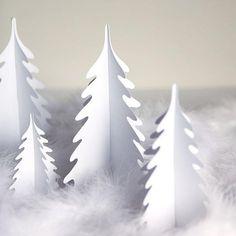 Silhouette Christmas trees