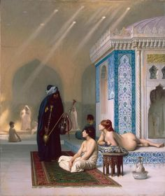 """Mi piace"": 8,049, commenti: 59 - Paintings Daily (@paintings.daily) su Instagram: ""Jean-Léon Gérôme (1824– 1904) 'Pool in a Harem' #paintingsdaily #historyofart #arthistory #art"""