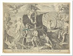 Straet, Jan van der [Johannes STRADANUS] and Adriaen COLLAERT, engraver AMERICAE RETECTIO. ANTWERP: JAN GALLE, 1585 [PRINTED CIRCA 1638] Oblong 4to (9 1/2 x 13 in; 240 x 330 mm). Engraved title and 3 engraved plates, after Stradanus, engraved by Collaert.  Each measuring approximately 225 x 285 mm. tipped onto larger sheets of 18th century blue laid paper. Expertly bound to style in half eighteenth century russia over early 18th century marbled paper covered boards; very slight foxing to a…