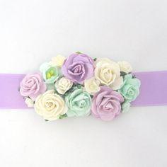 Lilac Wedding sash brooch with flowers belt bridal bridesmaid on Etsy, 255,25kr