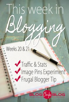 You don't want to miss this weekly report!  All the best blogging tips are in this...little tidbits of info that don't fit for a whole post!  Lots of Pinterest tips!
