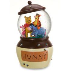 Disney Winnie the Pooh Hunny Pot Snowglobe