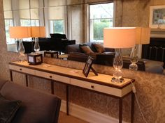 Julian Chichester Console & Antique Mirror, both bespoke made @ Cotton Tree Interiors UK
