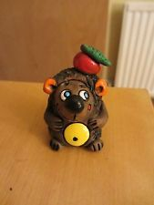 Handmade Clay Pottery Hedgehog Collectible Figurine