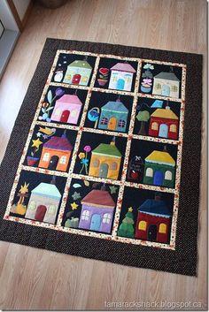 Tamarack Shack: Felt Houses. One block for each month