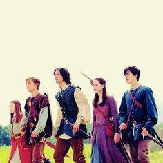 Lucy, Peter, Caspian , Susan & Edmund