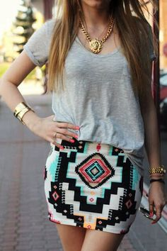 Awesome #skirt & #blouse