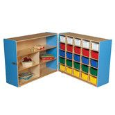 Found it at Wayfair Supply - Tray and Shelf Fold Storage Unit with 25 Assorted Trays