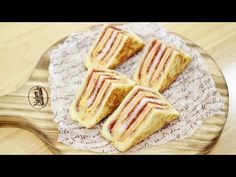 YouTube Korean Food, Bento, Camembert Cheese, French Toast, Sandwiches, Cooking Recipes, Baking, Breakfast, Cake
