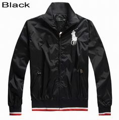 Polo Ralph Lauren Men Big Pony Peyton Windbreaker Jacket Black