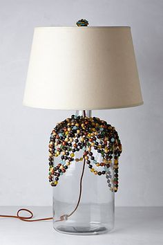 Beaded Glass Lamp Base from Anthropologie - $398.00