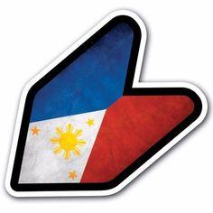 Grunge Philippines - JDM Wakaba Leaf Flag Decal Sticker Car Macbook Flip Laptop #CUSTOMI