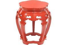 Red-Lacquered+Tabouret