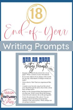 End-of-Year Writing Prompts to get your students thinking, reflecting, and writing about their school year! These engaging prompts will keep your students interested and working all the way through to the final bell! Writing Prompts For Kids, Teaching Writing, Writing A Book, Writing Ideas, Teaching Resources, Teaching Ideas, End Of Year Activities, Free Activities, End Of School Year