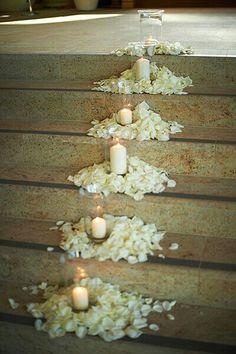 43 ideas wedding ceremony decorations candles rose petals for 2019 Ceremony Decorations, Wedding Centerpieces, Wedding Bouquets, Church Decorations, Flower Centerpieces, Wedding Church Aisle, Wedding Ceremony, Church Ceremony, Simple Church Wedding