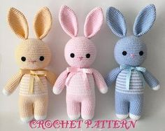 Crochet Amigurumi Bunny Pattern ( English only)