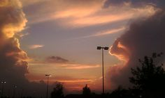 Taken on 9-6-12 in the parking lot at  COSTCO, Indianapolis, IN.  Sunset was SPECTACULAR.