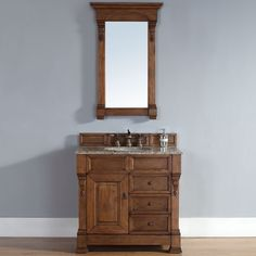"""The Brookfield Country Oak Single Cabinet Vanity is made with """"old world"""" craftsmanship and timeless design. Quality materials and meticulous attention to details make this James Martin Furniture vanity truly memorable."""