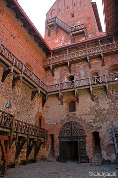 Courtyard for the royals, Trakai Castle, Lithuania