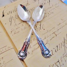 Pair Scottish Glasgow Sterling Silver Queens by SilverFoxAntiques, $120.00