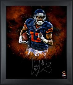 """Alshon Jeffery Chicago Bears Framed Autographed 20"""" x 24"""" In Focus Photograph"""