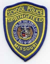 Us State Of Missouri Springfield School District Police Department Patch Springfield School Police Patches Police Badge