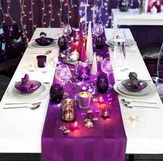 Purple Christmas Table Decoration