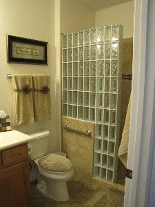 Glass block bathroom, i feel a remodel coming on!