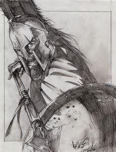 Resultado de imagem para Spartan Warrior Drawings