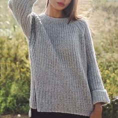 2630c4df3a Knitwear Pullover Long Sleeve Curled Sleeve Sweater –  sweaterweather   Sweaters  sweatersforwomen Fall Sweaters