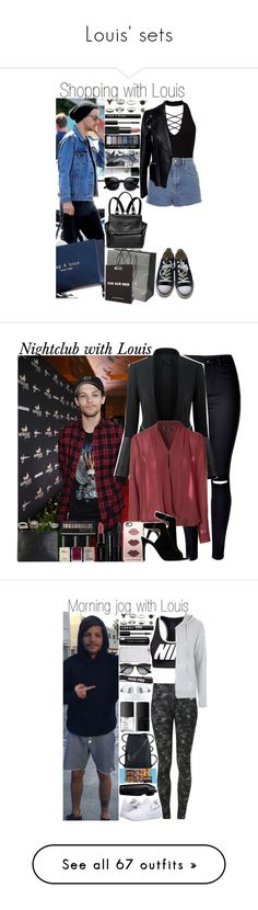 """""""Louis' sets"""" by fashion-onedirection ❤ liked on Polyvore featuring OneDirection, outfit, louis, Givenchy, Miss Selfridge, Topshop, Alexander McQueen, Converse, Lord & Berry and NARS Cosmetics"""