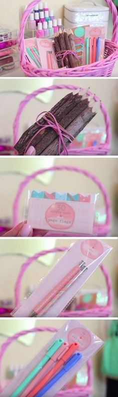 Pretty Stationery | Easy DIY Easter Basket Ideas for Kids
