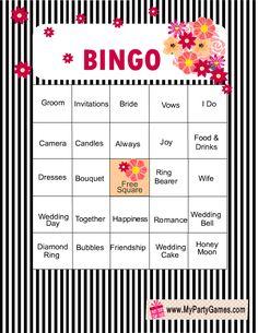 12 Free Bridal Shower Bingo Template | Bingo template, Wedding card ...
