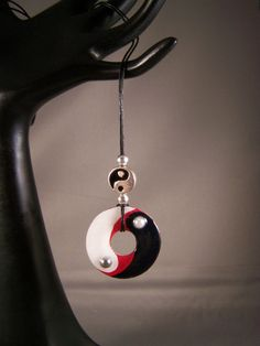 Yin and Yang Washer Necklace