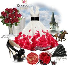 """Kentucky Derby Rose by Sheniq"" by sheniq on Polyvore"