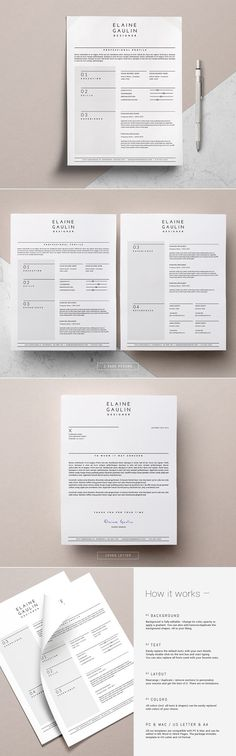 Modern Resume \ Cover Letter \/ Léonn by This Paper Fox on - paper for resume
