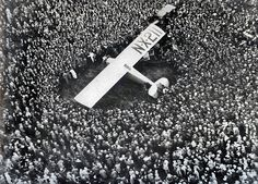 Charles Lindbergh Landing the Spirit of St. Louis in Paris, 1927