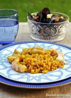 L'arròs del senyoret era un arroz en el que los tropezones (fueran de carne, pescado, marisco, incluso verduras), se ponían en t...