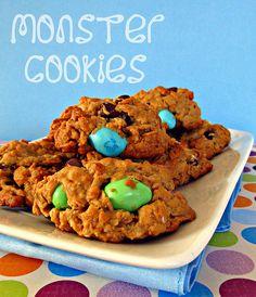 (Cookie) Monster Cookies | Cinnamon Spice & Everything Nice