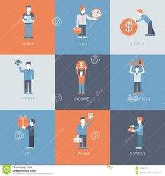 Business Finance Career Income Profit People Situations Flat - Download From Over 29 Million High Quality Stock Photos, Images, Vectors. Sign up for FREE today. Image: 46050376