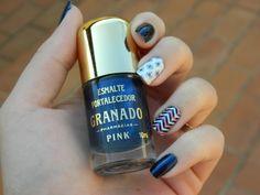De Unhas Feitas – Unhas Navy #unhas #nails #esmalte #deunhasfeitas