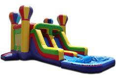 Adventure Combo Double Slide with Pool