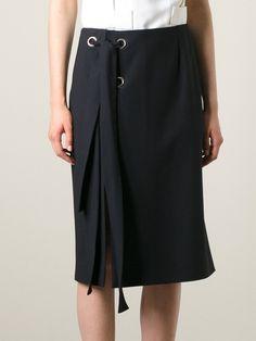 Lanvin Lace Detail Skirt - Bernardelli - Farfetch.com