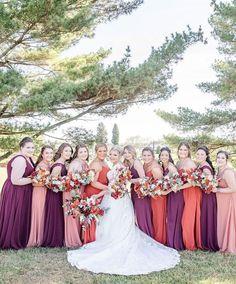 @amandasbridal posted to Instagram: The perfect Fall palette! 😍 Chiffon #bridesmaids shown in Eggplant, Cinnamon, and Rosewood . . @morileeofficial @abbottsbridal PC: @monicaannphotography #abtbridetobe #bridalparty #idocrew #bridesquad #bridalsquad #girlsfriendsbelike #amandasbridalandtux #bridesmaiddresses #teambride #squadgoals #instawed #coloradowedding #weddingown #denverbride #morilee #arvadacolorado #thedailywedding #bridalboutique #bridalshop #weddingstyle #yestothedress Mori Lee Bridesmaid, Bridesmaids, Bridesmaid Dresses, Wedding Dresses, Arvada Colorado, Bridal Squad, Team Bride, Yes To The Dress, Squad Goals