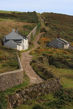 Cape Cornwall ~ is a small headland in west Cornwall, England. It is located four miles north of Land's End near the town of St. Just.