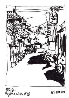 Ubud, perspective urbaine