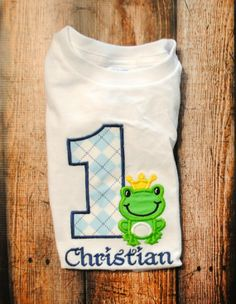 Personalized Frog Prince Birthday Shirt or Bodysuit by OoeAndAuti, $14.00