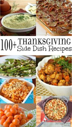Over 100 of the best Thanksgiving Side Dish Recipes Make your Thanksgiving feast fabulously delicious with these amazing side dishes Breads potatoes vegetables and more T. Best Thanksgiving Side Dishes, Thanksgiving Appetizers, Thanksgiving Feast, Thanksgiving Recipes, Holiday Recipes, Holiday Desserts, Dinner Recipes, Christmas Recipes, Fall Recipes